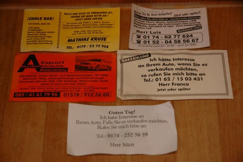 Visitenkarten Von Autokäufern Wohnmobil Forum Seite 1