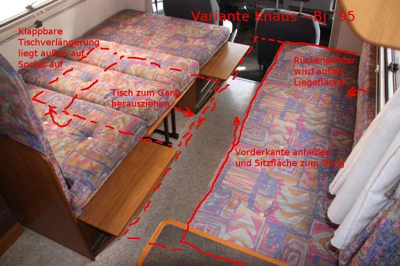 womo neuling wie baue ich sitzgruppe zum bett um wohnmobil forum. Black Bedroom Furniture Sets. Home Design Ideas