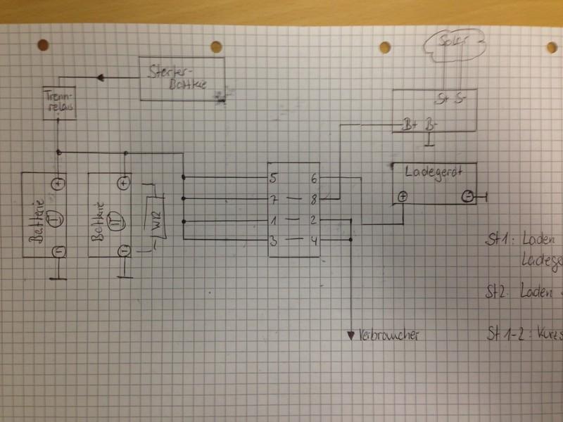 Batteriewahlschalter / Ladegerät Einbau VW T3 - Wohnmobil Forum Seite 1