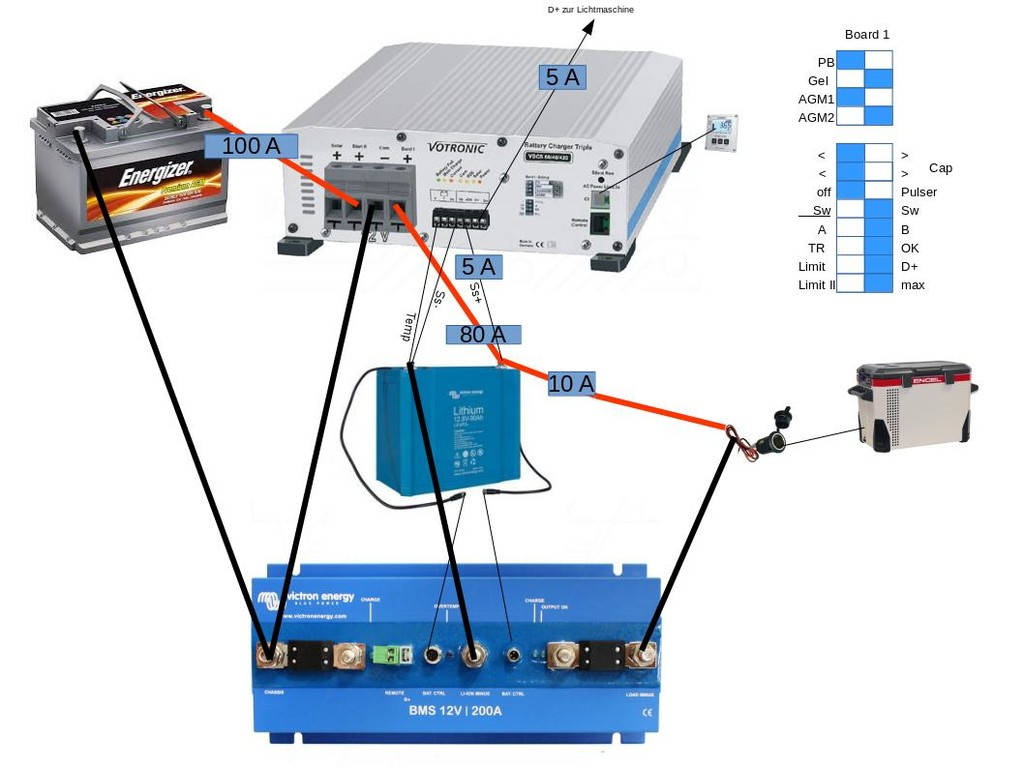 Aufbau Schaltplan Votronic VBCS, Victron BMS• Photovoltaikforum