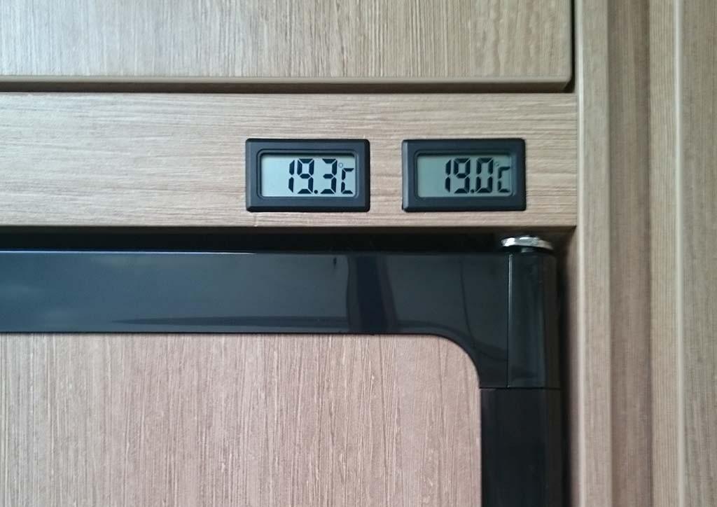 Kühlschrank Thermometer : Einbau thermometer kühl gefrierschrank thetford n wohnmobil