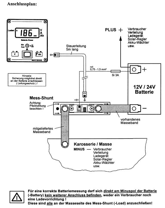 batteriecomputer anschlie en bitte um hilfe wohnmobil. Black Bedroom Furniture Sets. Home Design Ideas