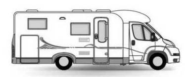teilintegriertes wohnmobil mit heckgarage wohnmobil. Black Bedroom Furniture Sets. Home Design Ideas